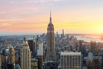 Skyline of New york with Empire state building