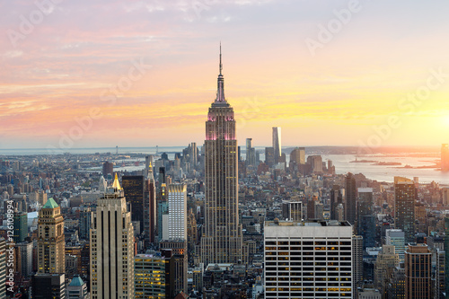Skyline of New york with Empire state building Poster