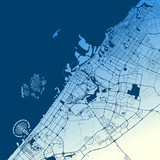 Dubai Two-Tone Map Artprint