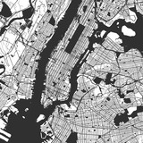 New York City Manhattan One Color Map © netsign