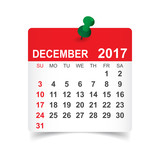 December 2017. Calen...