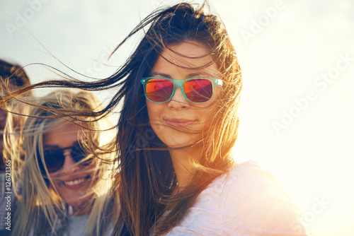 Two gorgeous trendy young women