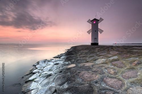 Poster Swinemünde Leuchtturm an der Ostsee