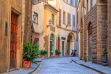 Fototapety Charming narrow streets of Florence town