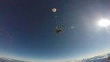 Skydiving tandem jump from the plane