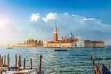 San Giorgio Maggiore island at sunrise, Venice, Italy - 126140990