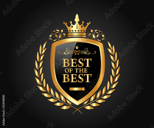 Best of the Best, Luxury and Award Logo Vector Design