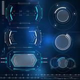 technological HUD elements, futuristic interface virtual reality - 126167994