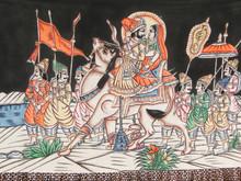 Un chameau porte un prince Rajput et sa femme,