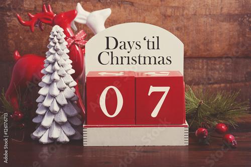 Poster Days till Christmas calendar.