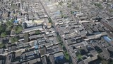 Historic walled city Pingyao aerial view, traditional architecture China