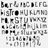 fun  doodle font collection,hand drawn alphabet set - 126194742