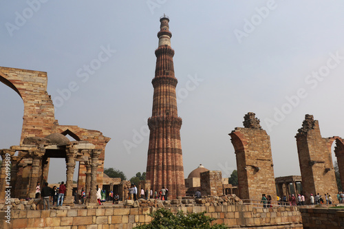 Qutub Minar Complex, the UNESCO World Heritage Site, Delhi Poster