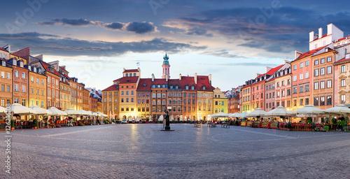 Market square in Warsaw, Poland