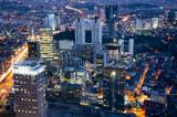 Fototapeta New York - panorama miasta noca - miejsckie światlła  © Tomasz