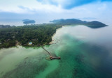 Aerial view of Koh Mak Island, Trad, Thailand