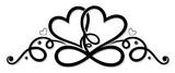 Unendlichkeit mit zwei Herzen, infinity. - 126220784