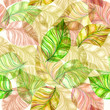 abstract seamless texture with leaves. watercolor painting