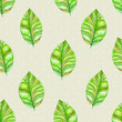 vintage seamless texture with leaves. watercolor painting