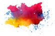 Quadro Multicolored bright splashes