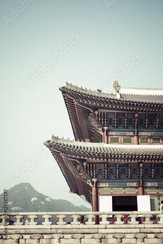 Geunjeongjeon, the Throne Hall, at the Gyeongbokgung Palace,