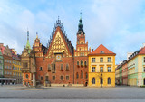 old gothic town hall building in Wroclaw, Poland