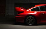 moderner roter Sportwagen, luxus Rennauto - 126284595