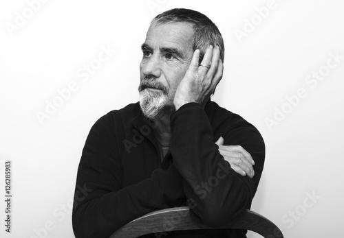 old man wearing a beard Poster