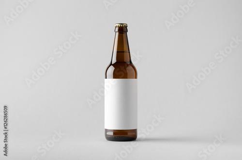 Fototapeta Beer Bottle Mock-Up - Blank Label