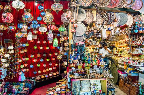 ISTANBUL, TURKEY - JULY 15, 2015: The Grand Bazaar in Istanbul, Turkey Poster