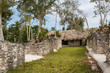 Ruins of the palace in ancient Mayan city of Dzibanche, Mexico