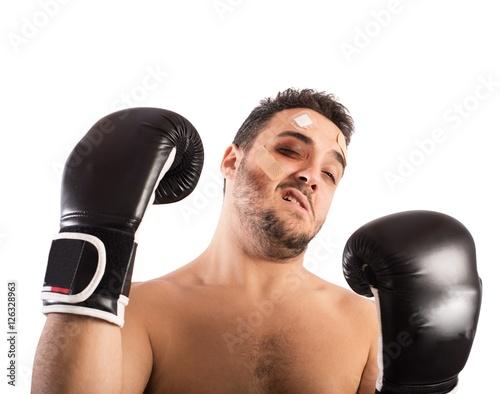 Poster Beaten boxer