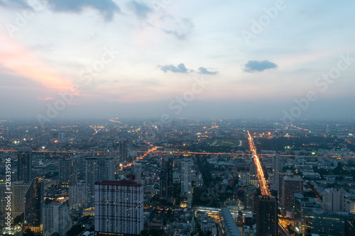 Poster Night light view of Bangkok Thailand