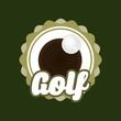 Quadro Golf sport game icon vector illustration graphic design