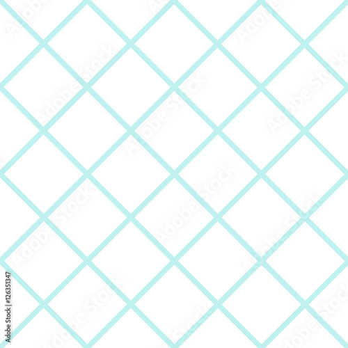 Mint Blue Green Grid White Christmas Chess Board Diamond Background Vector Illustration. - 126351347
