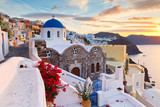 View of Oia village on Santorini island in Greece. - 126361168