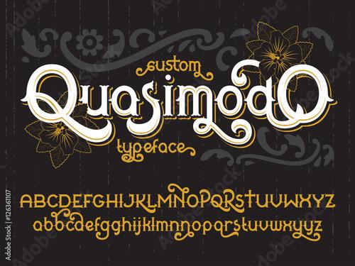 Aluminium Vintage Poster Custom retro typeface Quasimodo