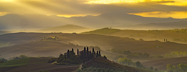 Fototapeta widok Toskania - panorama