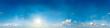 Seamless sky panorama. 360 degrees.