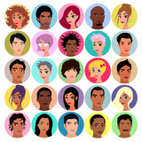 Collection of female and male avatars