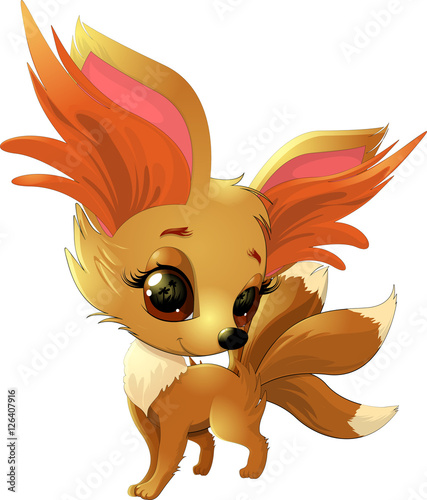 Fototapeta cute fox pokemon