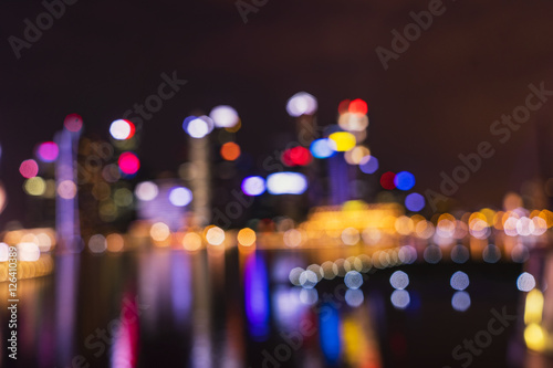 Poster abstract cityscape light bokeh for background - can use to display or montage on
