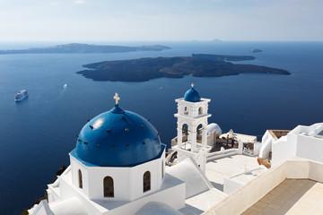Fototapeta biały kościół Grecja wyspa Santorini