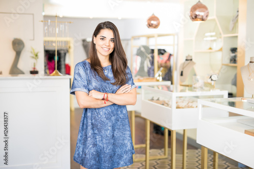 Business owner in a jewelry shop