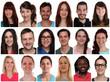 Portrait Collage multikulturell Jugendliche Menschen junge Leute