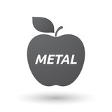 Isolated apple fruit with    the text METAL