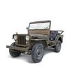 Origianaler U.S Army Jeep freigestellt mit Schatten