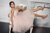 Fashion bride in gorgeous wedding dress  - 126478511
