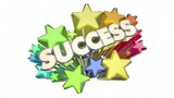 Success Stars Celebration Succeed Mission Goal 3d Animation