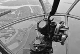 The Bombardier remote turret postion of an American bomber from World War Two.
